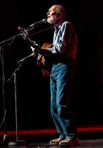 Performing at the Bring Leonard Peltier Home concert, in New York, 2012. Pe