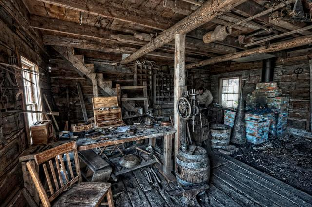 1860s Blacksmith Shop Nevada City Ghost Town Montana Daniel Hagerman Beatnikhiway