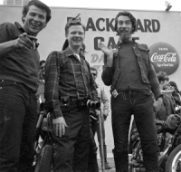 Bill Ray with Hells Angels, 1965
