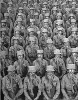 Rows of WACS after having put on their g